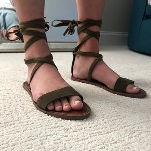 Steve Madden lace up sandals